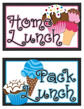 Lunch Choice Clip Tracker: Sweet Treat Theme