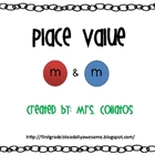 M &amp; M Place Value Math with Place Value Cards