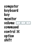 MAC Computer Lab Word Wall