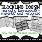 MANAGING BORROWED / LENT ITEMS {Blackline Design}