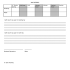 MAP Goal Setting Sheet