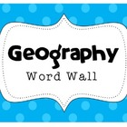 MAP SKILLS Geography Word Wall Bank ~Correlates with virtu