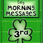 MARCH - 3rd Grade - Easy Morning Messages