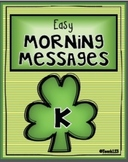 MARCH - Kindergarten - Easy Morning Messages
