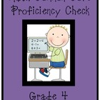 MATH Common Core-4th grade Standards Checklist- Proficienc