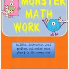 MATH Common Core - Monster Math number sense and word prob
