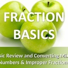 MATH: Fractions: The Basics (w/ Mixed Numbers & Improper F