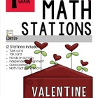 MATH STATIONS - Common Core - Grade 1 - FEBRUARY