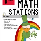 MATH STATIONS - Common Core - Grade 1 - MARCH