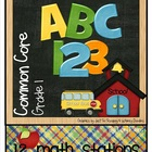 MATH STATIONS - Common Core - Grade 1