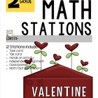 MATH STATIONS - Common Core - Grade 2 - FEBRUARY