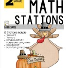 MATH STATIONS - Common Core - Grade 2 NOVEMBER