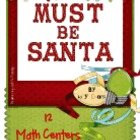 MATH STATIONS - Must Be Santa