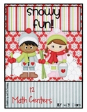 MATH STATIONS - Snowy Fun -