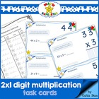 MATH SUPERSTAR 2 by 1 Digit Multiplication - TASK CARDS 1