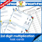 MATH SUPERSTAR 2 by 1 Digit Multiplication - TASK CARDS 2