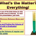 MATTER, WEIGHT, MASS & VOLUME- PowerPoint Lessons- part 2