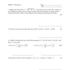 MCR3U - Functions Final Exam Review (Exam Sample)