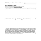 MCR3U - Sequences, Series, and Exponential Functions Test