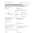 MCV4U - Calculus and Vectors Final Exam Review (Exam Sample)