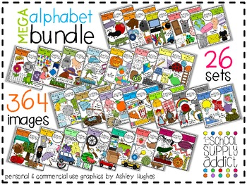 MEGA Alphabet Bundle N-Z {Graphics for Commercial Use}