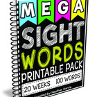 MEGA Sight Words Pack: First 100 Words