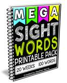 First 100 Sight Words- 20 weeks of lessons
