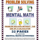 MENTAL MATH - PROBLEM SOLVING WITHOUT A CALCULATOR