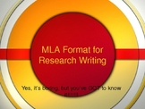 MLA Format PowerPoint (Includes 2009 MLA Format Update)