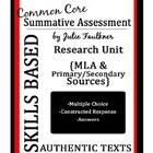 MLA Format and Primary/Secondary Sources Unit Test, Prep, 