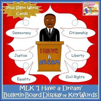 MLK - I Have a Dream - Bulletin Board Set
