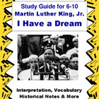 MLK I Have a Dream Speech Complete Study Guide 6-10