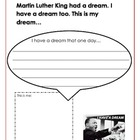 MLK day I have a Dream writing!