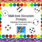 M&M Bookmarks with Discussion Prompts for Following Charac