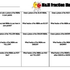 M&M Fraction Mania Worksheet