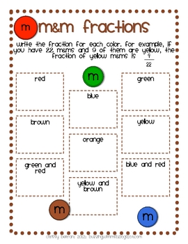M&M Fractions and Likeliness: Fractional Parts of Sets