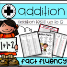 MORE! Addition Timed Tests 0-12 Common Core Aligned