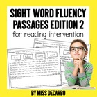 Sight Word Fluency Passages for Reading Intervention! {Version 2}