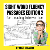 MORE Sight Word Fluency Passages for Reading Intervention
