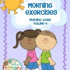MORNING EXERCISES -  morning work : volume 4