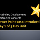 MS Academy PowerPoint Introduction Unit Day 2 of 3