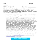 MS Word Project - Proposals