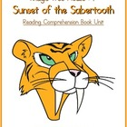 MTH07 Sunset of the Sabertooth Reading Comprehension Book Unit