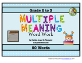 MULTIPLE MEANINGS WORD WORK