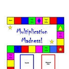 MULTIPLICATION MADNESS! board game