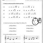 MUSIC Aural Worksheet: Listening Drill Template