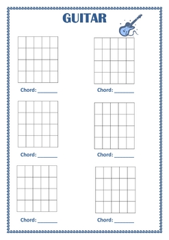 MUSIC: Blank diagrams for Keyboard, Guitar and Bass Guitar