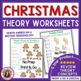MUSIC Christmas Worksheets