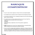 MUSIC: Composition in the style of the Baroque Era