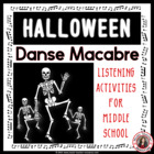 MUSIC: Danse Macabre PPT &amp; Worksheets Grades 5-7